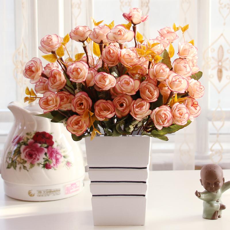 Wohnzimmer Schlafzimmer Tisch Dekoration Simulation Von Seide Blume Bonsai Gesetzt Ornamente Massivholz Vase Knstliche Blumen
