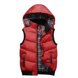 Image 3 - Plus Size 5XL Mens New Winter Vest Thermal Sleeveless Jackets Men Casual Slim Fit Autumn Vests Men Brand Waistcoat