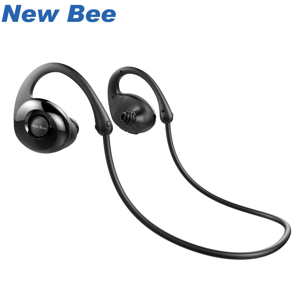 New Bee Headset Bluetooth Wireless Sport Earphone Headphones Snail Design HiFi Earbuds with Mic Pedometer App For Phone