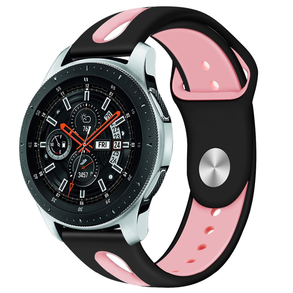 22mm band For Samsung Gear S3 Frontier/Classic strap silicone bracelet wrist Rubber R760/R770 Watchband smart watch belt dahase sport soft silicone strap for samsung s3 classic r770 band 22mm bracelet for gear s3 frontier r760 watch band with pins