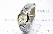 Full Stainless steel Watch white quartz watch women's business LongBo Brand Gift Lady Gift Dress 30M Waterproof Wristwatches