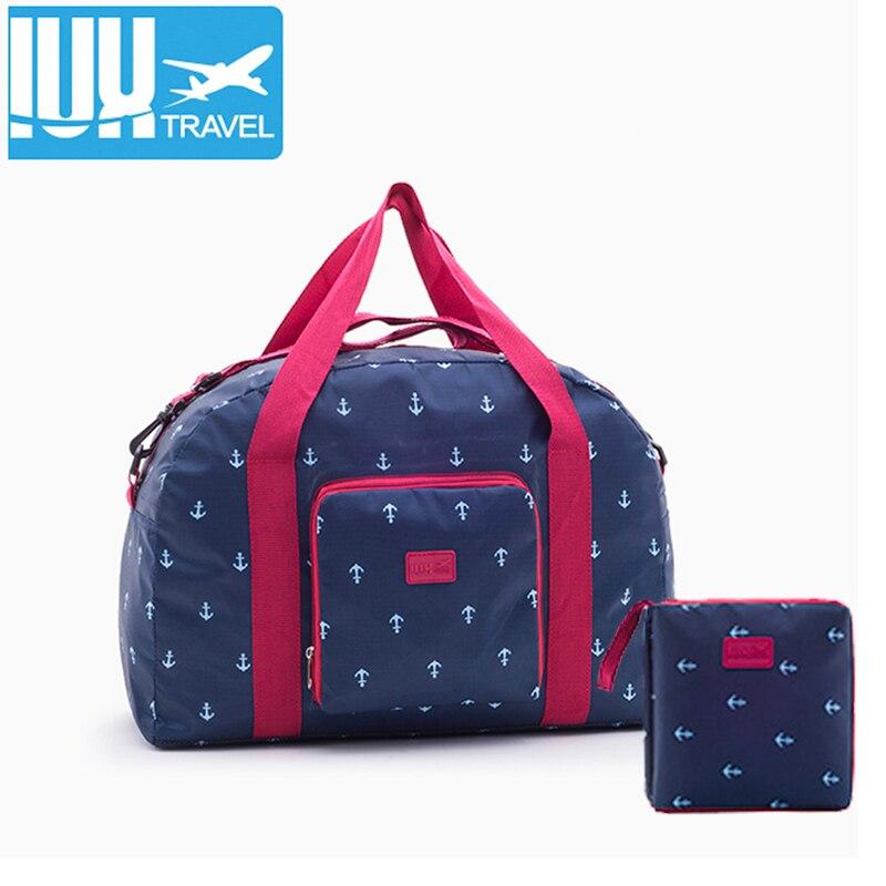 2018 New Women Travel Bag Nylon WaterProof Folding Bag Large Capacity Unisex Luggage Packing bags Men Travel Handbags wholesale цена 2017