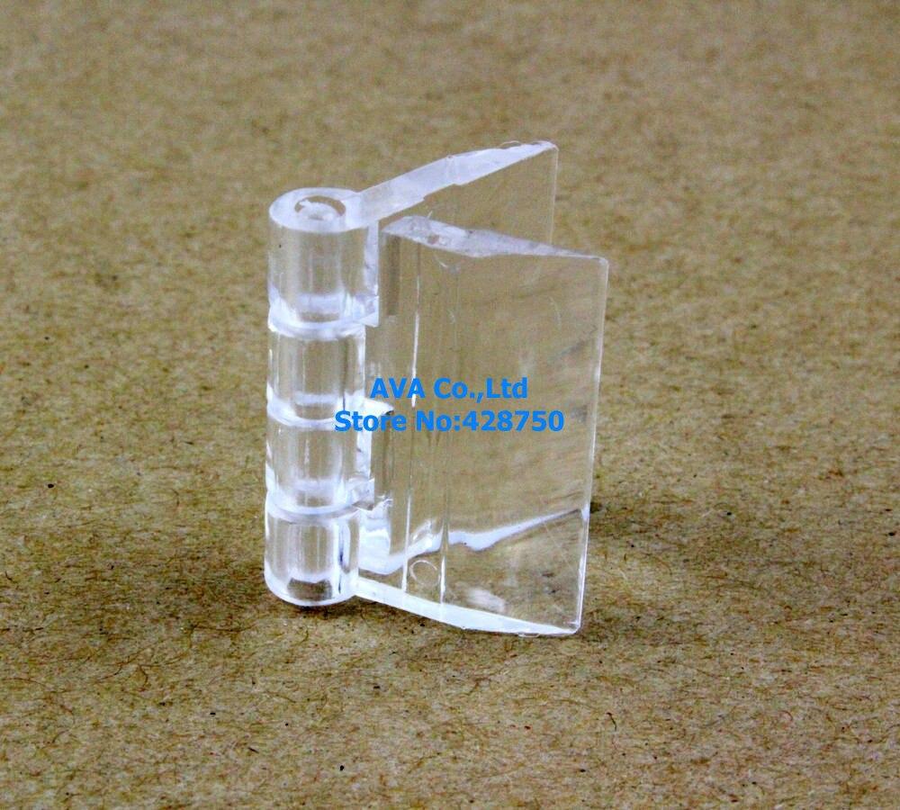 10 pièces charnière en plastique acrylique transparent charnière en plexiglas/taille: 25x33mm