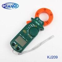KJ209 небольшой DC AC Цифровой клещи портативный карманный DC AC Зажим ammeters мультиметр