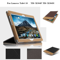 PU Leather Case Flip Cover For Lenovo Tab 4 10 TB X304F TB X304N Tablet Cases