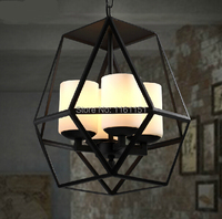 Free shipping HY03 creative Loft Vintage Industrial classical Metal frame pendant lamp lighting