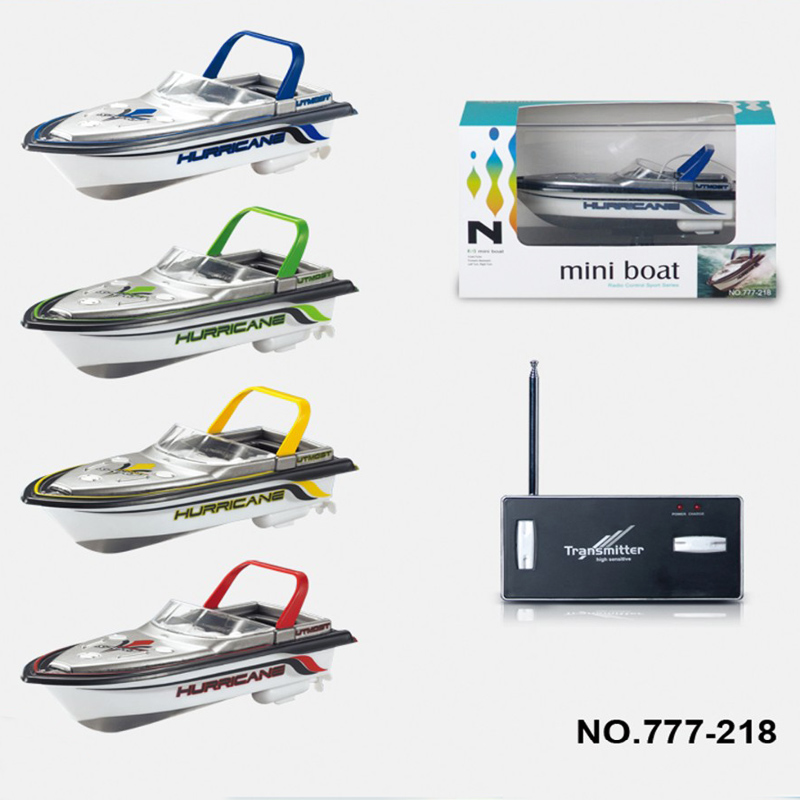 2018 New Kid Toy RC Boat Rechargable Type Radio Remote Control Super Mini Speed Dual Motor 4 Color Racing Children Kids Toys