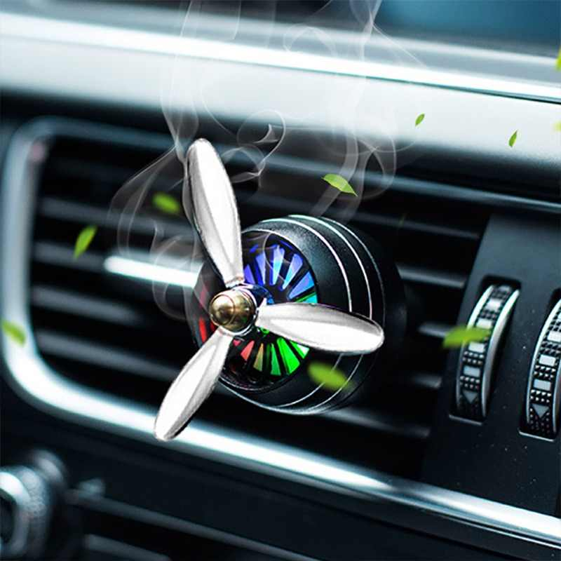 Air Freshener Car Smell LED Mini Conditioning Vent Outlet Perfume Clip Fresh Aromatherapy Fragrance Alloy Auto Good Accessories