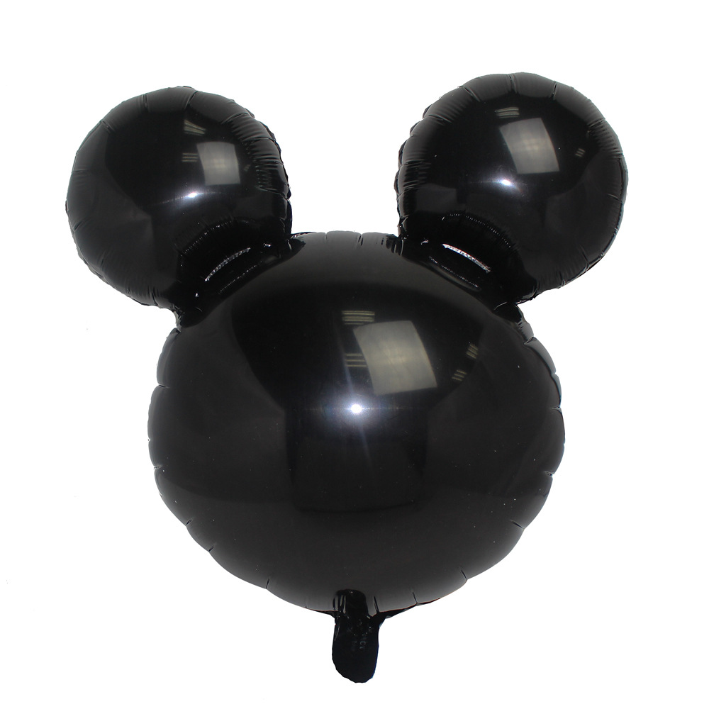 10pcs/lot Mickey Head Shape Foil Balloons Inflatable Helium Ballon For Birthday Party Su ...