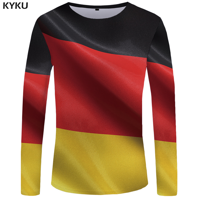 72009625cb2 KYKU Germany Long sleeve T shirt German Flag T-shirts Clothes Clothing Tops  Tees Tshirt
