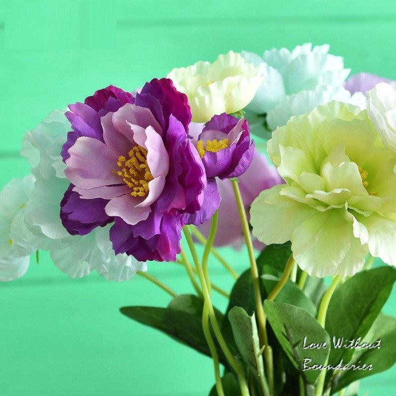 Acheter Romarin Fleurs Artificielles fleur de soie pour le Mariage Décoratif Garland Jardin Décoration Murale 5 pcs/lots de artificial flowers silk flower fiable fournisseurs