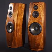L 003 Denmark Scan Speaker ET 9086 Three way Floor standing Speaker HIFI speaker Pear veneer 90dB 8 ohms 150 300W