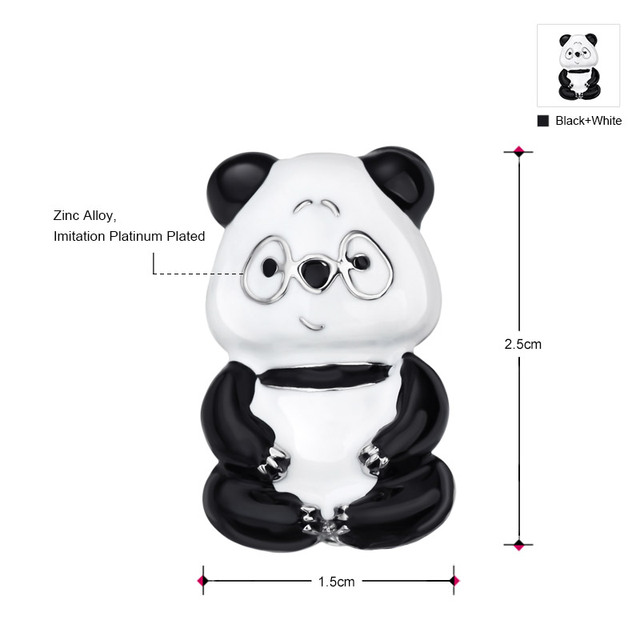 Cute Small Panda Brooch