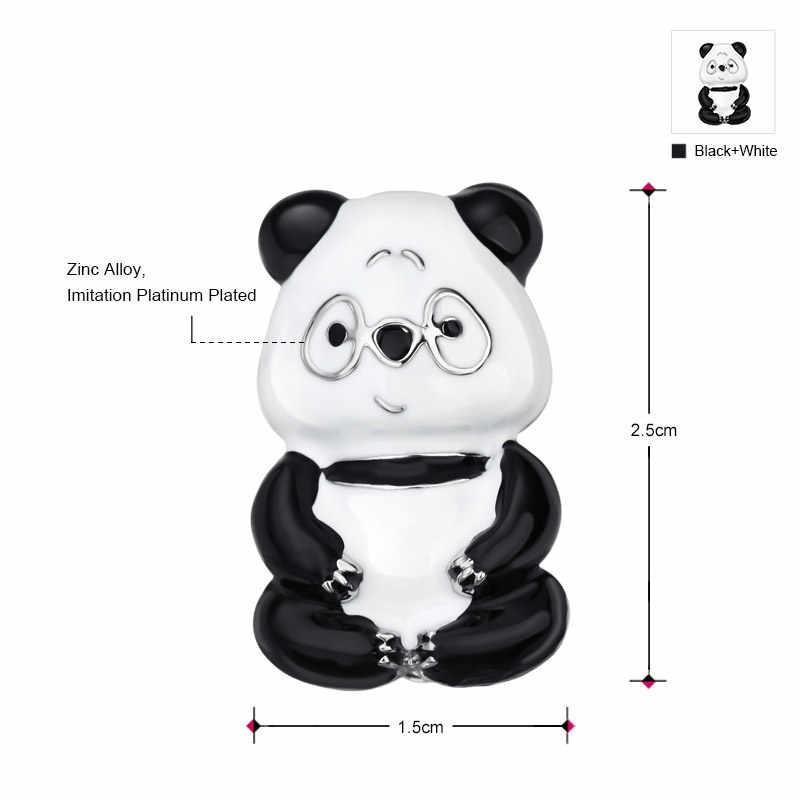 Neoglory bonito pequeno animal panda pinos e broches para mulheres meninas moda vintage jóias presentes novo 2020