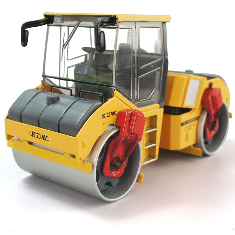 Alloy engineering vehicle single steel wheel road roller model Christmas gift children Collection of ornaments kid car toy 1:50