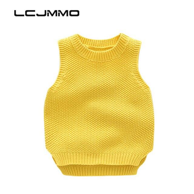 LCJMMO 2017 Trẻ Em Áo Len Vest mùa đông trai cô gái áo len đan Quần Áo Trẻ Em Rắn Không Tay Vest Quần Áo Bé Áo Len