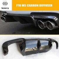 F10 M5 Carbon Fiber Rear Bumper Diffuser for BMW F10 M5 Bumper 2010 2016 Auto Racing Car Styling Tail Lip Spoiler Diffuser