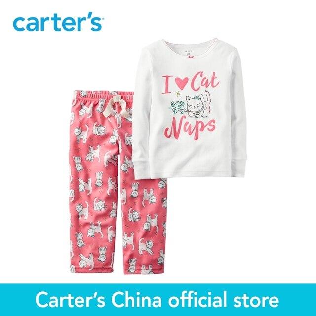Картера 2 шт. детские дети дети 2-х Частей Хлопок и Флис PJs 337G139, продавец картера Китай официальный магазин