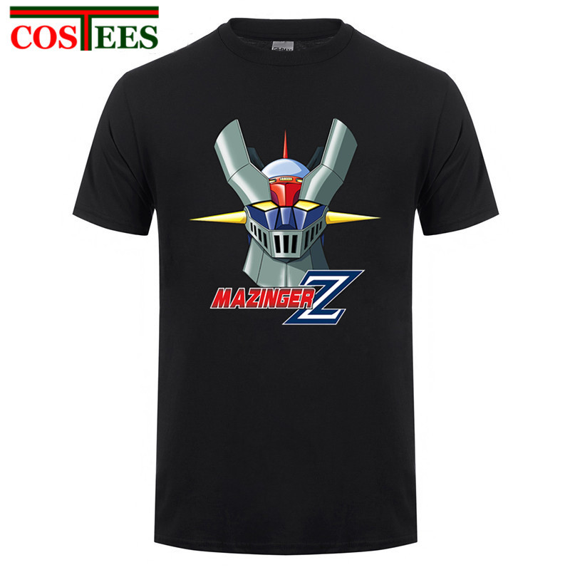 2017 New Arrival Anime Mazinger Z 03 Men t shirt customized 100% cotton Short Sleeve T-shirt gildan Men's Clothing Top Tee shirt