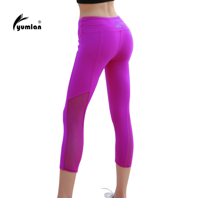 932af5a1c0 Women Sports Tights Women Fitness Sexy Yoga Leggings Elastic Pants High  Waist Mesh Running Pants Women Clothes