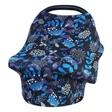 Nursing Cover Scarf for Mum Breathable Newborn Baby Feeding Baby Car Seat Canopy Flowers Print Shopping Cart Cover for Babies(China)
