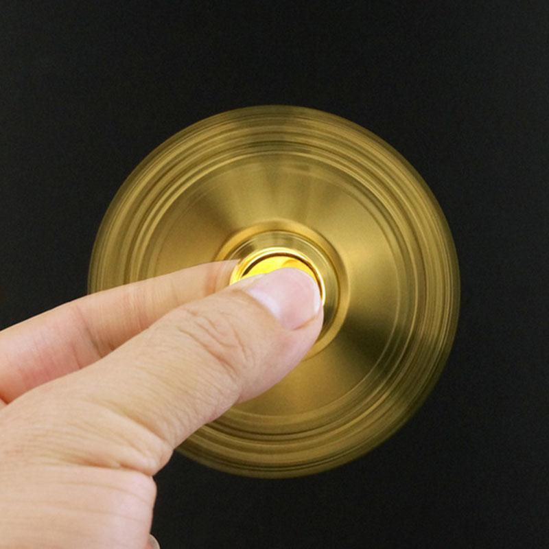 Metal Gold Fidget Spinner Alloy Hand Spinner Stress Wheel Finger Spinner Relieve Stress Fidget Toys