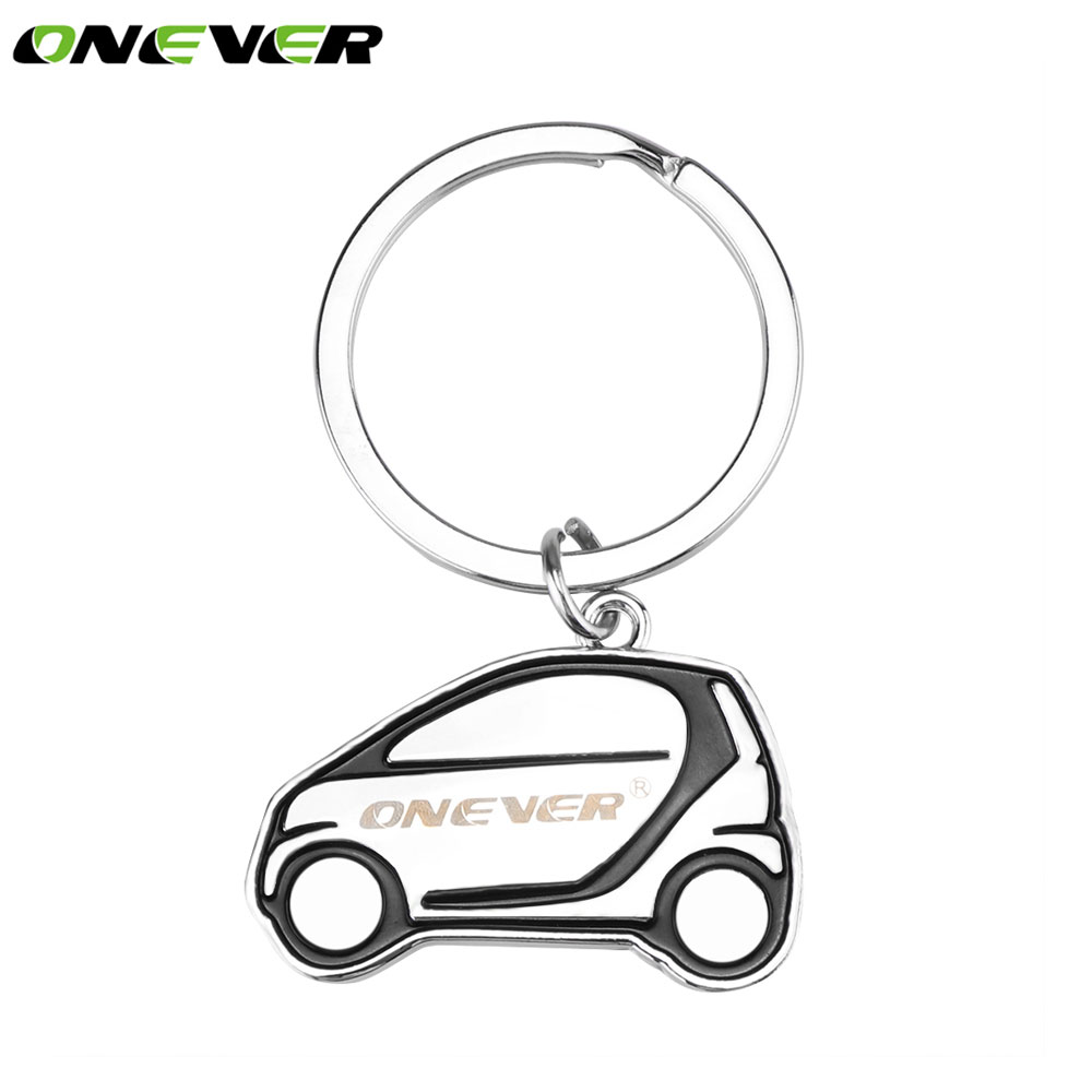 Onever car shape key ring holder key chain metal cartoon car keychains pendant for vw ford bmw volkswagen audi mercedes gifts