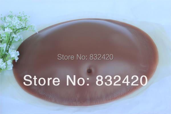 Brown color 5~6 months pregnancy realistic pregnant silicone belly silicone tummy drop shipping wholesale free shipping 4000g fake pregnancy belly twins pregnant baby belly test pregnancy drop shipping wholesale