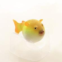 Fish-Tank Aquarium Man-Made Puffer Artificial 1pcs Glowing-Effect