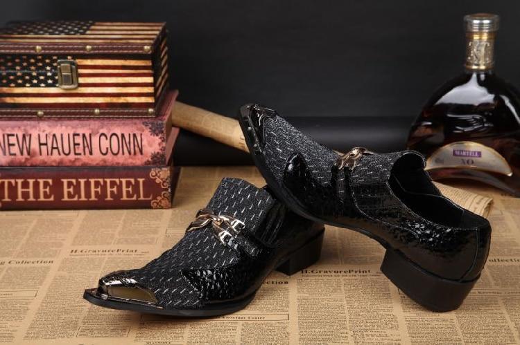 Apontou Vestido Moda Homens Mocassins Show Oxford As Elegante Couro Toe Rebites Quente Metal Homem Decoração Trepadeiras Sapatas Sapatos P De Dos xUtwIqHC6