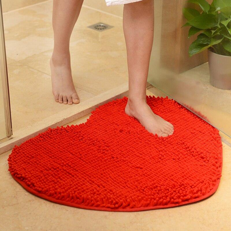 Herz Form Bad Teppich Schone Anti Slip Boden Matte Fur Wc Nicht Slip