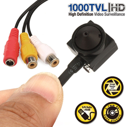 Vanxse CCTV 1/3 Sony CCD 1000TVL 3.7mm wider angle HD Mini Security Surveillance Camera with audio Microphone Mic