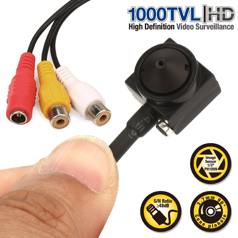 Vanxse font b CCTV b font 1 3 Sony CCD 1000TVL 3 7mm wider angle HD