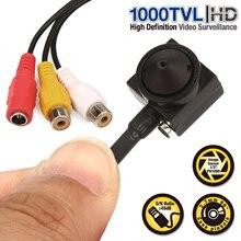Vanxse CCTV 1/3 sony CCD 1000TVL 3,7 мм широкий угол HD мини безопасности камеры скрытого видеонаблюдения с Аудио Микрофон