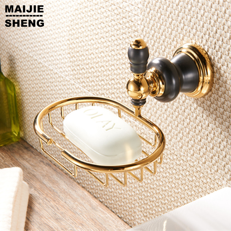 Bathroom brass Golden Soap basket /soap dish/soap holder /bathroom accessories,bathroom furniture toilet vanity