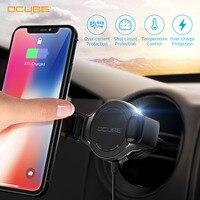 Cargador de coche inalámbrico, carga rápida, soporte de teléfono 3,0, montaje en coche para Iphone Xr, Huawei, Samsung, accesorio de teléfono inteligente