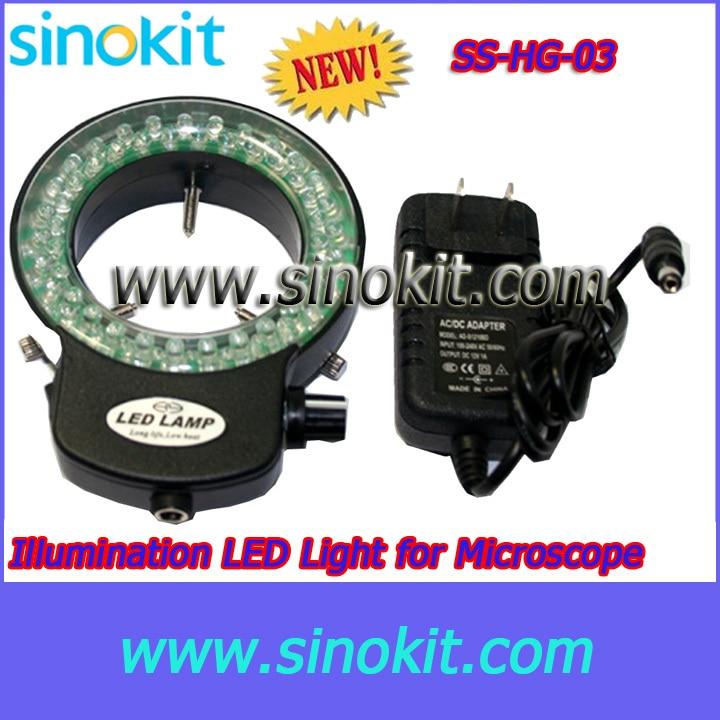 Adjustable brightness Microscope circle LED Lamp Input Voltage: 85V-265V 50/60Hz - SS-HG-03