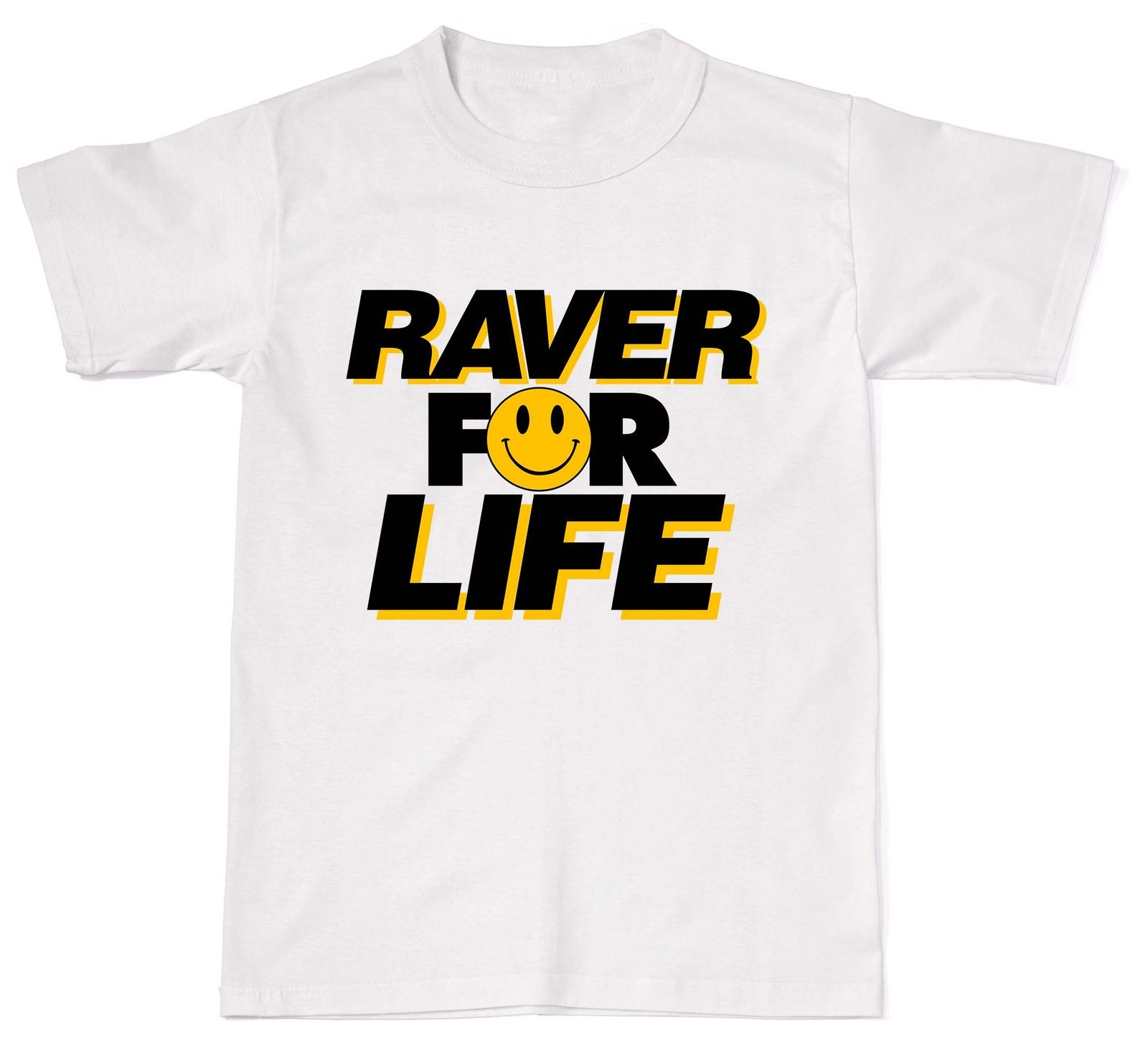 2018 Summer Fashion Hot Sale Men T Shirt Raver For Life Rave DJ Dance Acid Rave Festival Mens Womens Cotton T-Shirt T shi