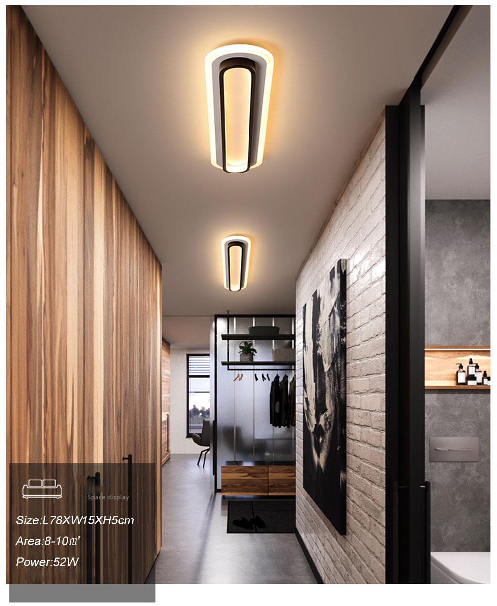 Modern Led Ceiling Lights For Living Room Bedroom Study Room Corridor White black color surface mounted Ceiling Lamp AC85-265V