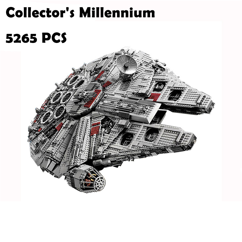 Model Building Blocks Kit 05033 Star 5265Pcs Wars Collector's Millennium Model Falcon Bricks Toy Gift Compatible with lego 10179 2015 high quality spaceship building blocks compatible with lego star war ship fighter scale model bricks toys christmas gift