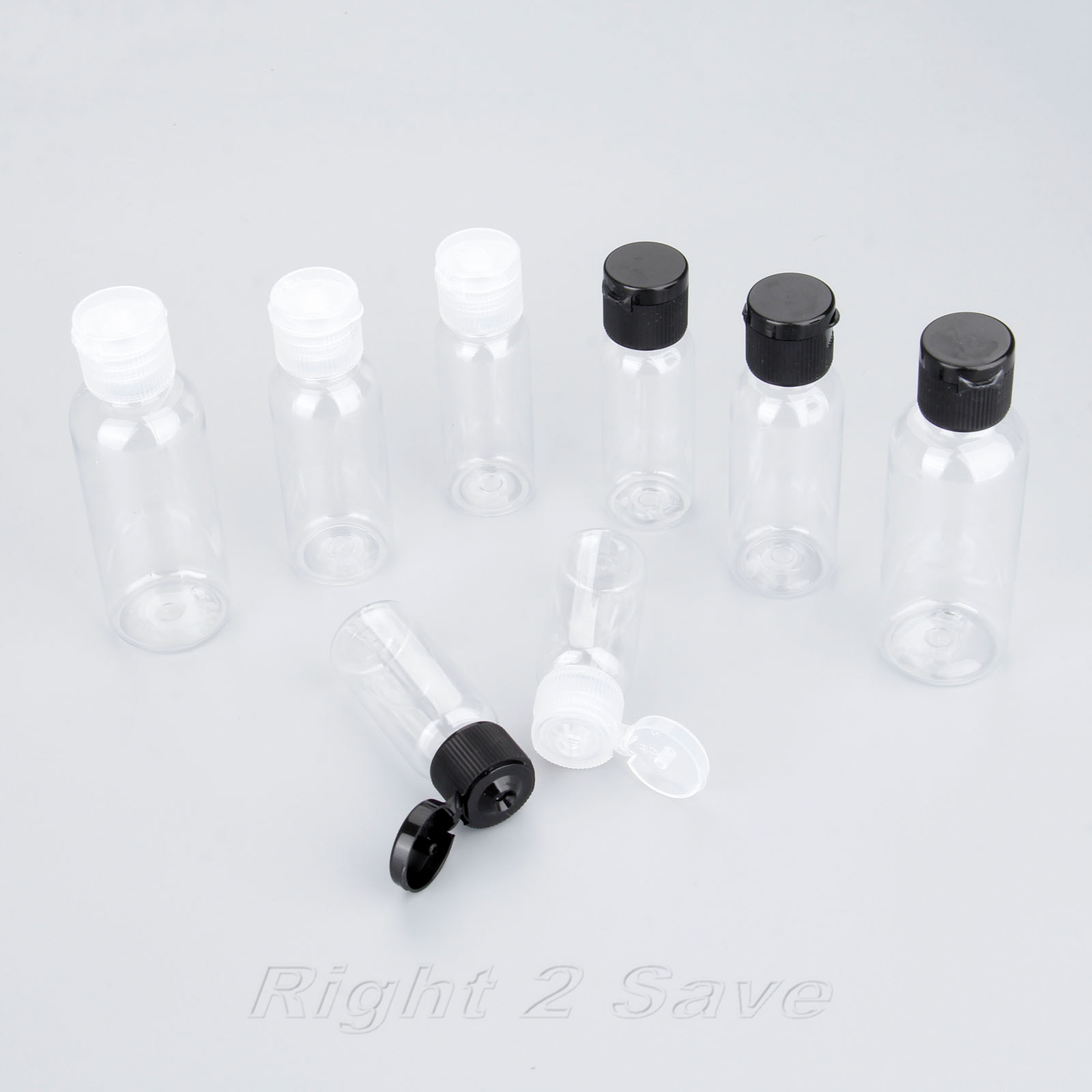5PCS Bottles Empty Cosmetic Containers Transparent Portable Plastic Perfume Makeup Water 15/20/30/50 ML Clamshell Caps Beauty 1l food grade plastic glasswares chemical reagent bottle pet empty cosmetic containers 10pc large sample bottle food containers