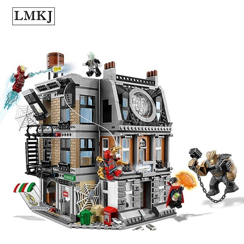 Heros Doctor Avengers Marveled Infinity War Super Sanctum Showdown Building Brick Block Toys Compatible with Legoingly 76108 sanctum