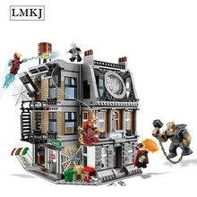 Герои доктор Мстители подивились Бесконечность войны супер святилище Showdown здания игрушечный конструктор совместим с Legoingly 76108