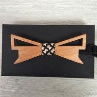 Nuovi uomini di arrivo di legno papillon matts triangolo forma plaid gentleman bow tie 2016 nuovo stile