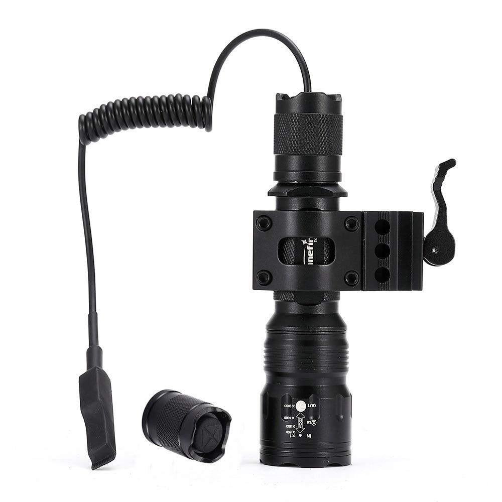 AloneFire TK104 LED Flashlight Tactical Lantern 18650 flashlight led lamp Remote Switch Led Tactical Flashlight For Hunting