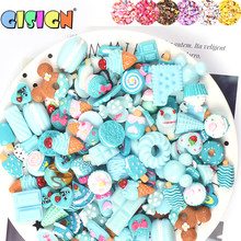 10pcs Resin Cake Slime Supplies Soft Clay Additions Accessories Charms Filler For Slime Kit Diy Lizun Toys Decoration Antistress(China)