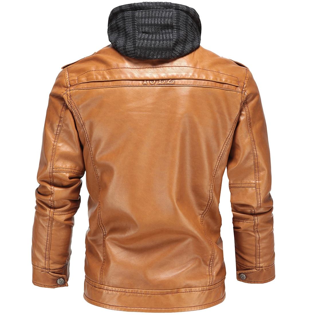 Estilo Los Casual La Amarillo Invierno Cuero De Motocicleta Hombres Chaqueta Abrigos Inglaterra Pu afqvYwt