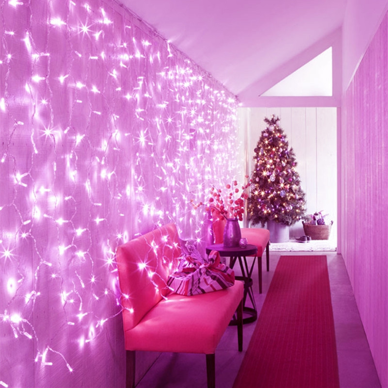 3.5m LED wave curtain light Christmas New Year Holiday lighting string garland fairy wedding party indoor outdoor decoration 3x3m led curtain string light fairy new year christmas garland decoration led waterproof lamp wedding party indoor outdoor decor