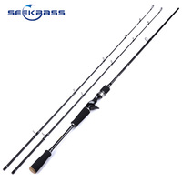 SeekBass SK602 M/MH 1.8M 2 Tips 7 20g/10 25g Lure Weight Carbon Fiber Carp Bait Casting Lure Bass Pike Fishing Rod