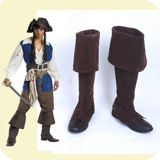 US $58.89 | : Koop Piraten van de Caribbean Jack Sparrow Zwarte Versie Cosplay Laarzen Volwassen Halloween Winter Fancy Party Cosplay